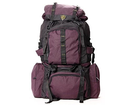 President Hulk Hiking Bag - Wine - Tough 1000D Polyester Fabric - 70 cm H x 37 cm L x 22 cm B  available at amazon for Rs.1799