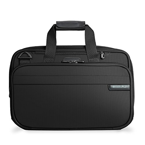 Briggs & Riley Baseline Expandable Cabin Bag, 40.2 litres, Black Reise-Henkeltasche, 42 cm, liters, Schwarz (Black)