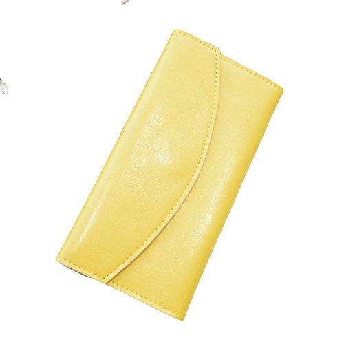 Damen-Tasche Lange Brieftasche Brieftasche Brieftasche Brieftasche Brieftasche Handtasche Paket Mode Wilde Mode Yellow
