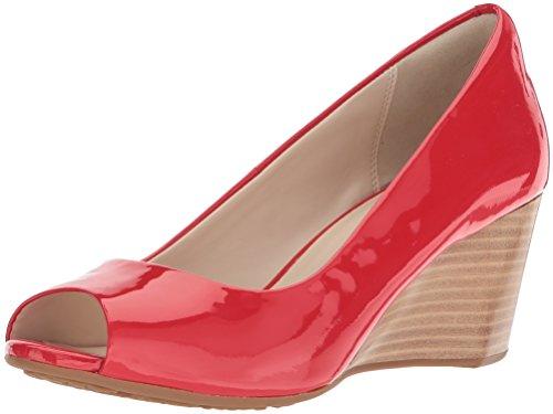 Cole Haan - Sadie, zehenfrei,Keilabsatz, 65 mm Damen, Orange (Aura Orange Patent), 35 B(M) EU Orange Patent Schuhe
