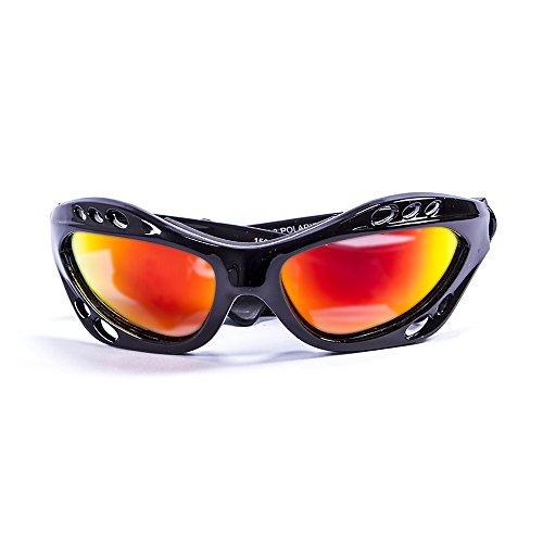 Ocean Sunglasses Cumbuco - lunettes de soleil polarisées - Monture : Noir Laqué - Verres : Revo Jaune (15001.1) 7jWHv2H