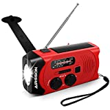AM FM Emergency Power Bank Radio Solar Wind Up USB, Hand Crank Rechargeable