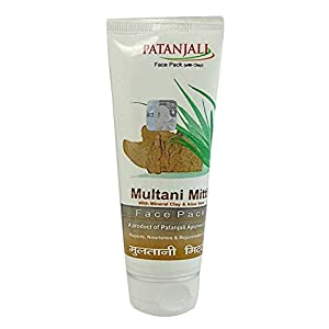 Patanjali Aloevera Multani Mitti Face Pack, 60g (Pack of 2 Top 10 Natural Health Care Patanjali Products