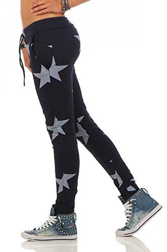 Mr. Shine Damen Sweatpants Baggy Hose Boyfriendhose Freizeithose Jogginghose Fitness Sporthose Yogapants Jogger Loose Fit Big Star S-XXXL Navy Blau