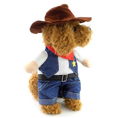 estern Cowboy mit Mütze klein Hundemantel Cat Pet Kleidung Classic (Scooby-halloween-kostüme)