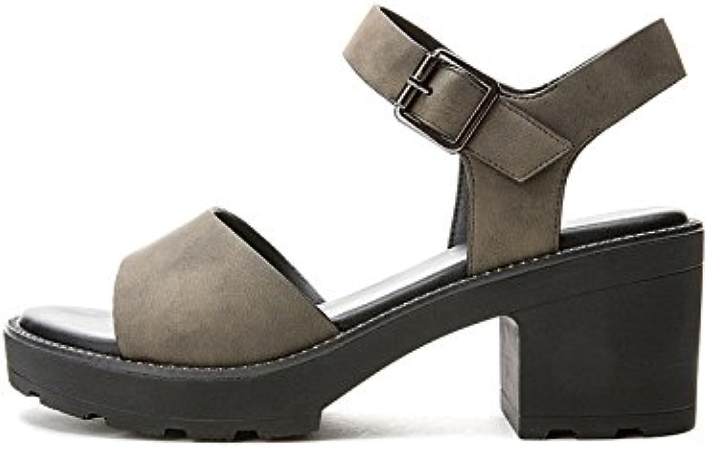 DHG Sandali estivi, Pantofole da donna alla moda, Sandali piatti casual, Sandali con tacco basso a tacco basso... | Qualità Superiore  | Scolaro/Signora Scarpa
