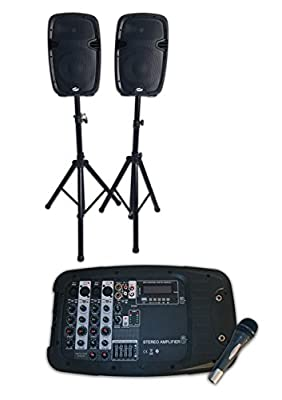 Party In A Box Home/Hall/School DJ PA System with Bluetooth, USB, SD & MP3 Connections