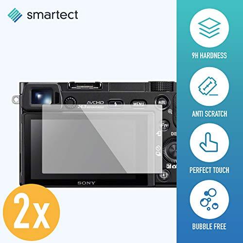 smartect Panzerglas für Sony Alpha 6300 [2 Stück] - Displayschutz mit 9H Härte - Blasenfreie Schutzfolie - Anti Fingerprint Panzerglasfolie
