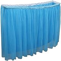 MagiDeal Falda de Tabla de Tulle Decoración de Mesa de Fiesta de Bienvenida al Bebé de Boda 6 Pies/9 Pies - Azul, 6 pies