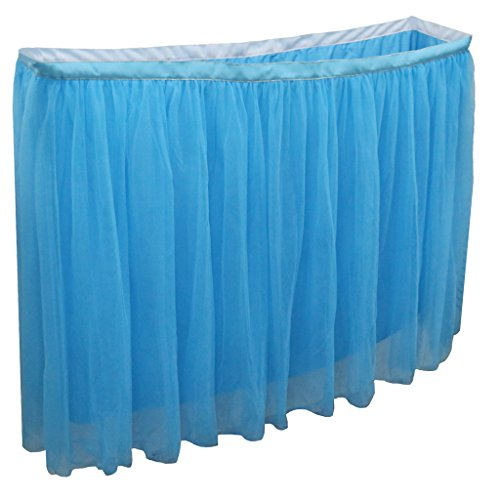 MagiDeal Tischdecke/Tischdeko mit Tüll, für Hochzeit, Babyfeier oder Geburtstag Party - Blau, 182 x 82cm