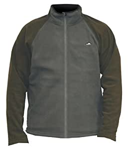 Ice Mountain Mens Appalachian Full Zip Micro Fleece, Grey, Medium