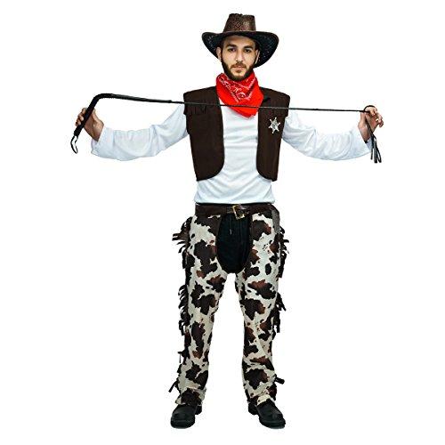 (Sea Hare Erwachsene Männer Western Cowboy Kostüm)