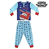 Super Wings - Pijama Manga Larga 2 Piezas Interlock 100% Algodón (92-98cm)