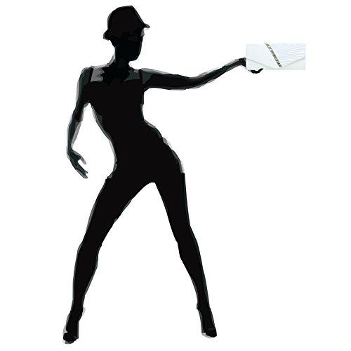 CASPAR TA391 Donna Pochette Elegante in Raso con Strass e Drappeggio Bianco