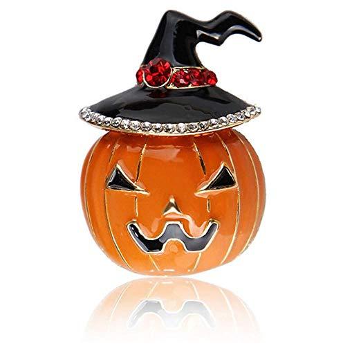 X-Z Halloween Orange Kürbis Brosche Emaille Pin Black Magic Hut Cartoon Broschen für Frauen Männer Kinder Broach Kleidung Zubehör
