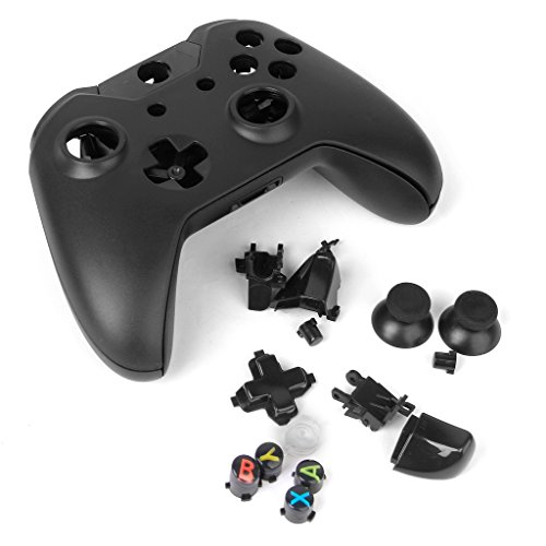 Kit Shell Sostituzione Caso Di Ricambio Per Xbox One Wireless Controller, Colore: Nero Materiale: ABS