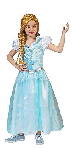 ostüm für Kinder Gr. 104 - Wunderschönes Mädchenkostüm für Theater, Karneval oder Mottoparty - Schneeprinzessin, Schneekönigin, Eiskönigin (Wunderschönes Elsa Kleid)