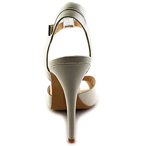 Vince Camuto Soliss Cuir Talons Clean White