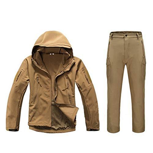 Tarnung Shjzom Tactical Gear Softshell Camouflage Jacke Herren Army Waterproof Warm Camo Kleidung Windbreaker Fleece Coat Military Jacket Khaki M -