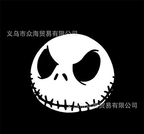 önlichkeit Halloween Pumkin Kopf Horror Skelett Autoaufkleber Reflektierenden Wasserdichten Sonnenschutzmittel Tür Körper Glas-Aufkleber Ziehen Blume 11X11CM B ()