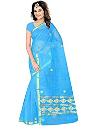 STYLISH SAREES FANCY DESINER COTTON GOTA PATTI WORK SAREE WITH JARI BORDER