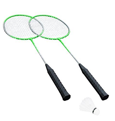 HUDORA Badminton-Set Fly High - 2 Badminton-Schläger + Federball - 76414