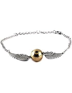 Goldene Schnatz Silber Gold Armband Harry Potter Längenverstellbar