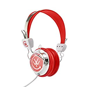 Lightweight Kids Headphones by CYW, Foldable Stereo Headset with Adjustable Headband (Red)