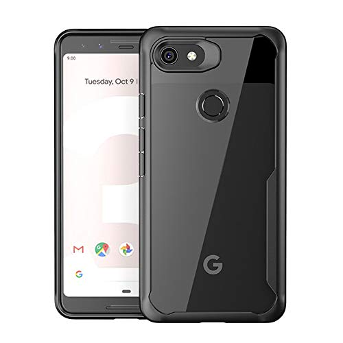 Annure® Shockproof Armor (360 Protection) Back Cover Case for Google Pixel 3a (Black Shield Armor)