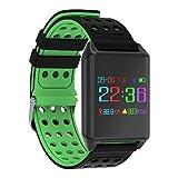 Smart-Armband Kalorienzähler Schrittzähler Blutdruck Messung APP-Steuerung Touch Control Pulse Tracker Schrittzähler AktivitätenTracker , green