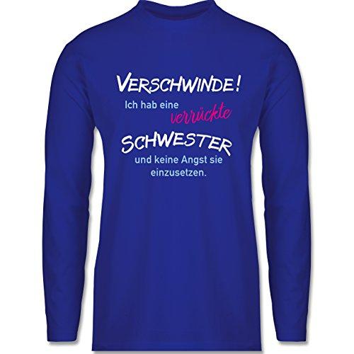 Bruder & Onkel - Geschwister Geschenke verrückte Schwester - Longsleeve / langärmeliges T-Shirt für Herren Royalblau