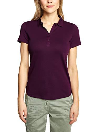 Cecil Damen 313339 Nele Poloshirt,per Pack Rosa (deep Berry 11438),X-Small (Herstellergröße:XS)