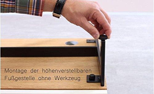 KITOON Sideboard/Lowboard (B 171 H 38 T 48 cm), Fußgestell, Nuß geölt (Echtholzfurnier) - 6