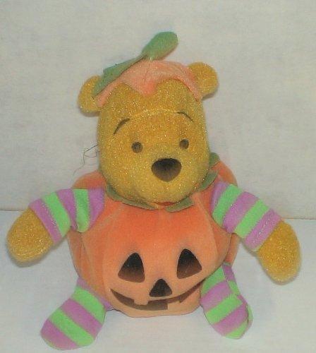 Disney Pooh Halloween Jack-o-Lantern 7 Plush Bear by Winnie the Pooh (Pooh The Halloween Winnie)