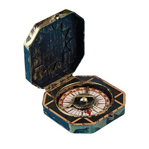 SUPVOX Weihnachten Pirat Kompass Spielzeug Vintage Messing Tasche Kompass Marine für Kinder Halloween Party (Bronze)