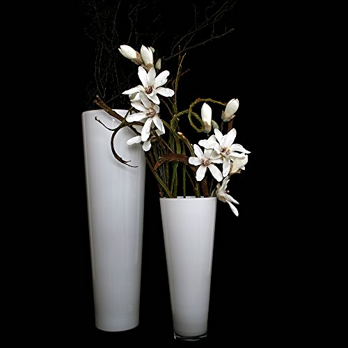 glasvase konischer zylinder wei 70cm 22 5cm bodenvase glas gro vasen deko gro modern. Black Bedroom Furniture Sets. Home Design Ideas