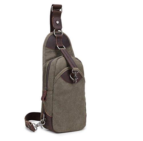 BULAGE Tasche Leinwand Männer Beiläufige Beutel Brusttasche Retro Schulter Freizeit Vertikalschnitt Einfach Atmungsaktiv Praktisch Green