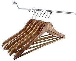 Yusense Wooden Set of 6 Hangers