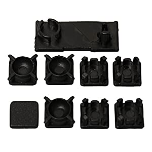 Timorn HDD Swivel Tür Kunststoff Schraube Füße Pad Cover Kit für PS3 Slim Konsole (10 Sets)
