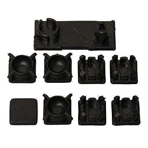 Timorn HDD Swivel Tür Kunststoff Schraube Füße Pad Cover Kit für PS3 Slim Konsole (1set) -