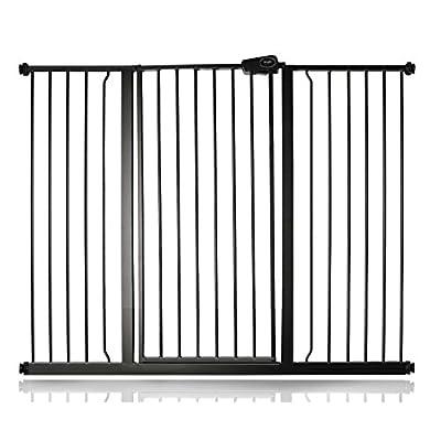 Safetots Extra Tall Matt Black Stair Gate Range (120.3cm - 127.9cm)