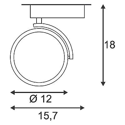 Strahler KALU TRACK QRB111 Spot 50W für 1-Phasen-Stromschiene, inkl. 1-Phasen-Adapter, schwarz EEK: D - A+