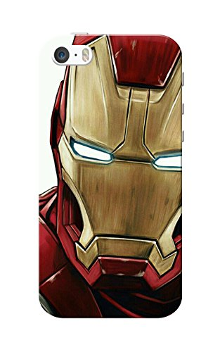 iPhone 5 Case, iPhone 5S Case, Iron Man Golden Red Slim Fit Hard Case Cover/Back Cover for Apple iPhone 5/5s  available at amazon for Rs.119