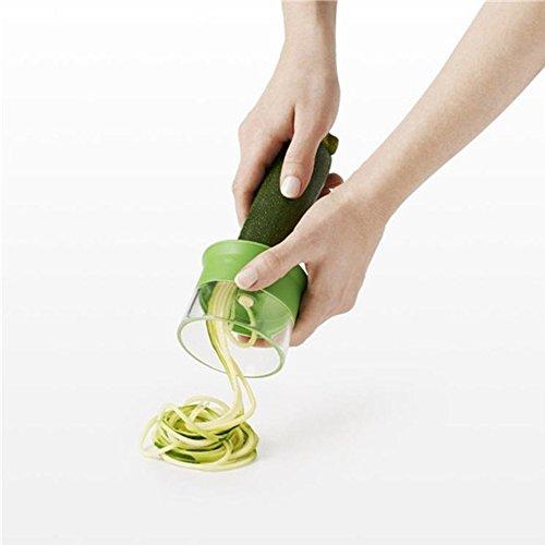 Spiralisierer, Rocita Spiralschneider aus ungiftigem Sparbüchse Farbe grün Presspresse Multifunktion