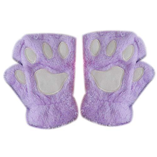Tatzen-Greifer-Handschuh Neuheit Halloween weiche Frottier Halb Covered Frauen Handschuhe Fingerlose Handschuhe ()