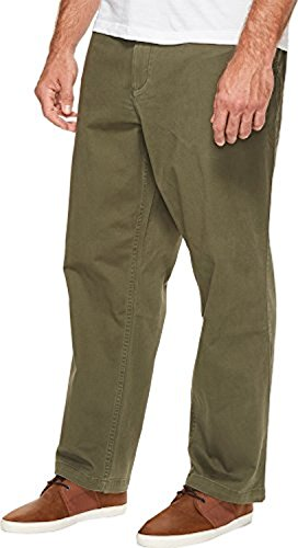 Dockers Men's Men's Big & Tall Washed Khaki Flat Front Dockers Olive Pants (Flat Mens Hose Front Twill)