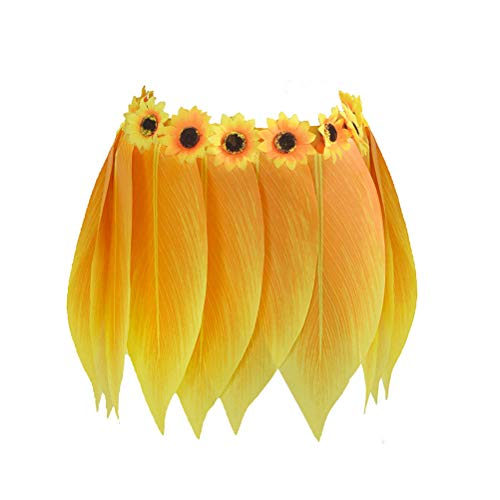 Amosfun Hawaiian Tropical Hula Grass Rock Hawaii Party Kostüm für Strand Luau Party Supplies Erwachsene Plus Größe 100 cm (Hula Mädchen Tanz Kostüm)