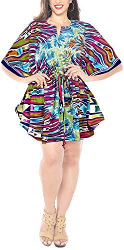 LA LEELA soft aloha alle in 1 Tunika-Oberbekleidung Bademode Badeanzug Bikini Sonne beiläufiges Kleid Tunika kurzes Abendkleid lässig hinreißend Größe Kaftan Bademode Badeanzug Damen Hawaii vertuschen -