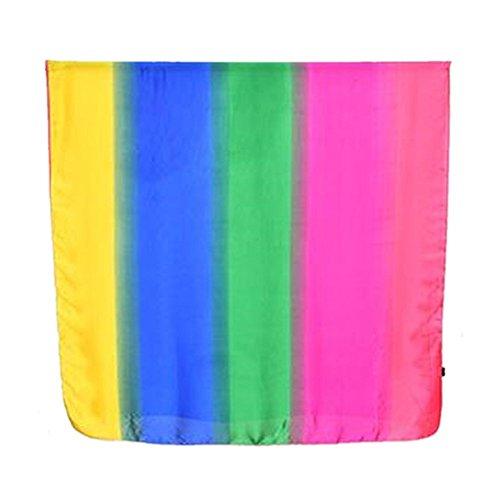 XLNSMZ Schal im Frühjahr, Sommer und Herbst Lange Seidenschal Schal Sonnencreme Strandtuch Regenbogen Lange Handtuch, C (Seide Pastellfarben)