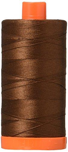 Aurifil,-2360massiv 50WT 1422yds Schokolade Mako-Baumwolle Gewinde -